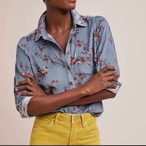 Anthropologie Building 18 Button-up